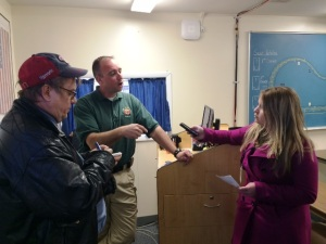 MPO Joe Moore spoke with reporters at the class.