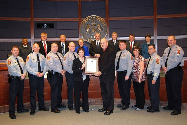 Fairfax County Board of Supervisors recognizes the re-certification of the Crime Prevention Program for the Fairfax County Police Department.