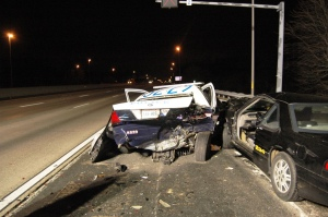 Officer's vehicle struck in 2013 while he pulled someone over on the shoulder of I-66 near Route 50