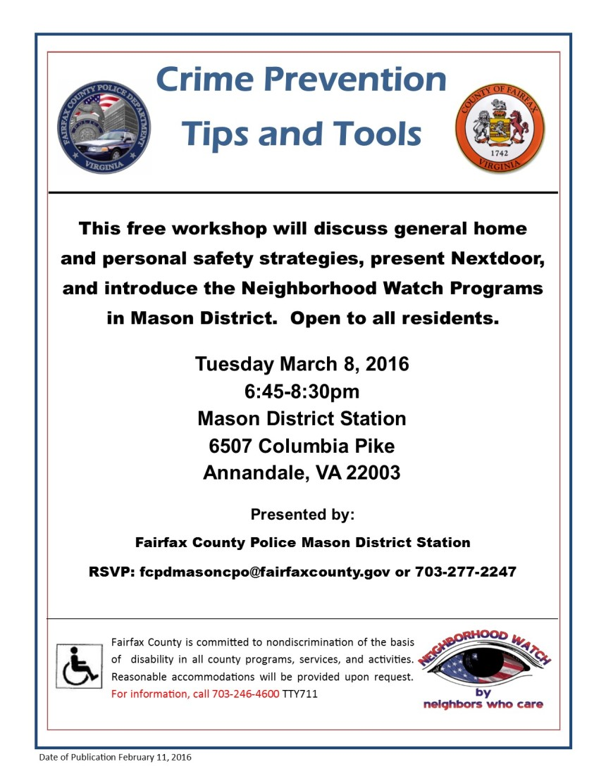 Crime Prevention Workshop