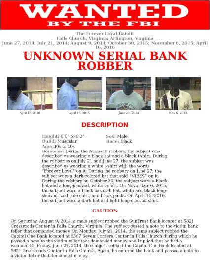 FBI Bank Robbery Wanted Poster April 16 2016 Capital One Bank Falls Church VA-page-001