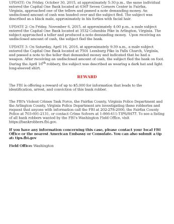 FBI Bank Robbery Wanted Poster April 16 2016 Capital One Bank Falls Church VA-page-002