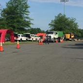 Inspection stations at the site