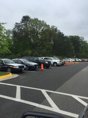 042617 Police Vehicles Parked outside Holmes Run Park