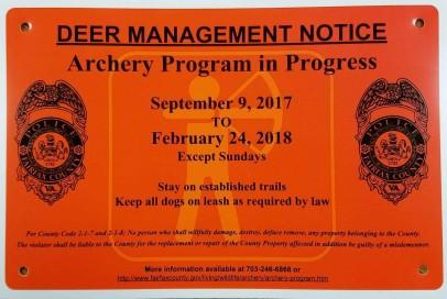 Deer Management Notice
